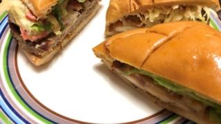 ハンバーガーをキレイに半分に切る・切り分ける方法【包丁で簡単】
