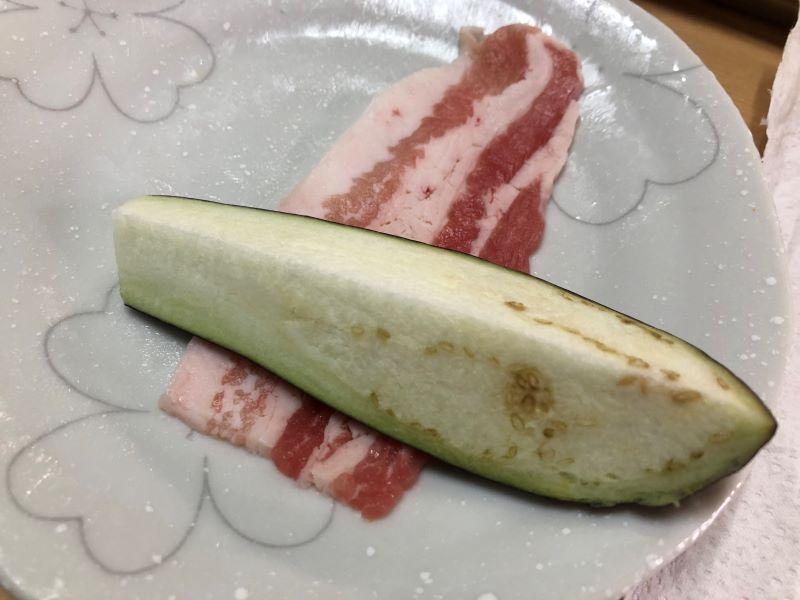 ナスの肉巻き野菜