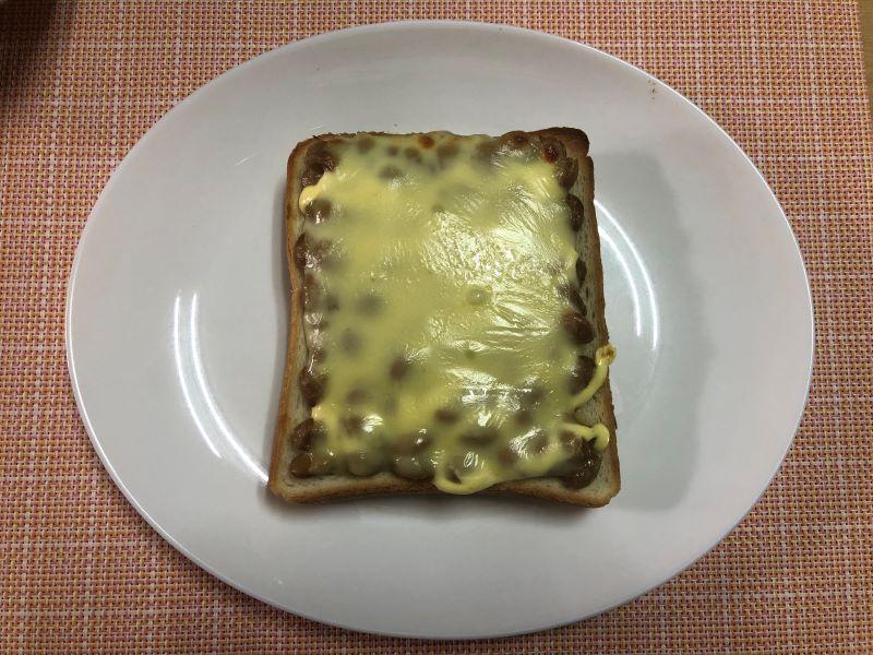 納豆食パンマヨネーズのレシピ