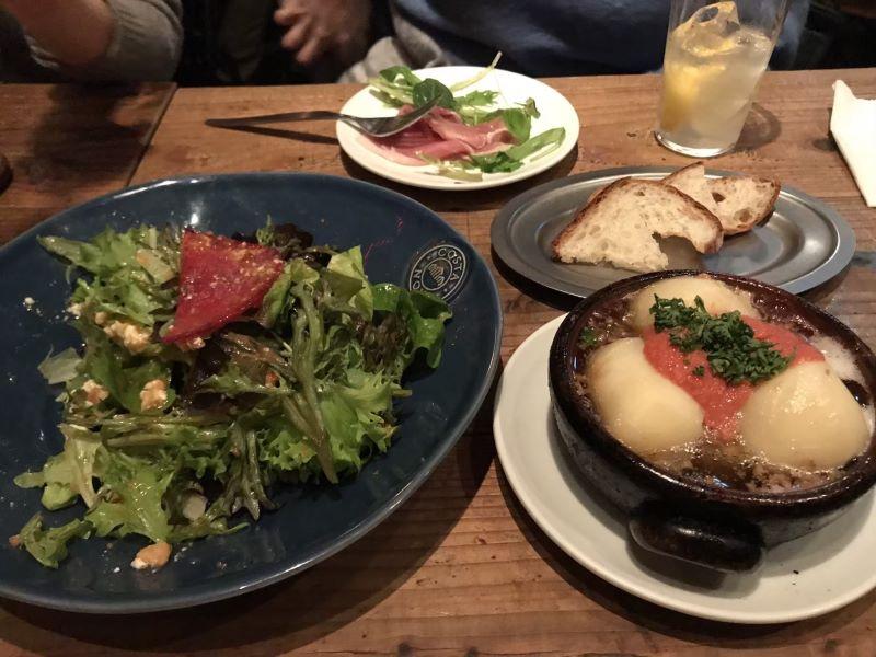 バンサンの料理メニュー「たらことホクホクジャガイモのアヒージョ」