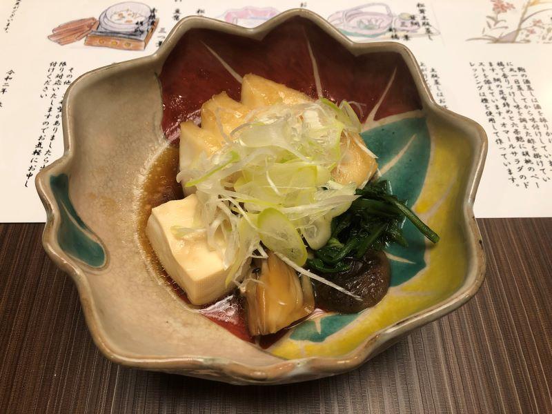 ホテル天坊の個室で食べる料理