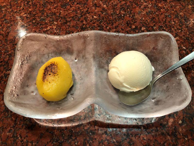 スイートポテト&バニラアイス