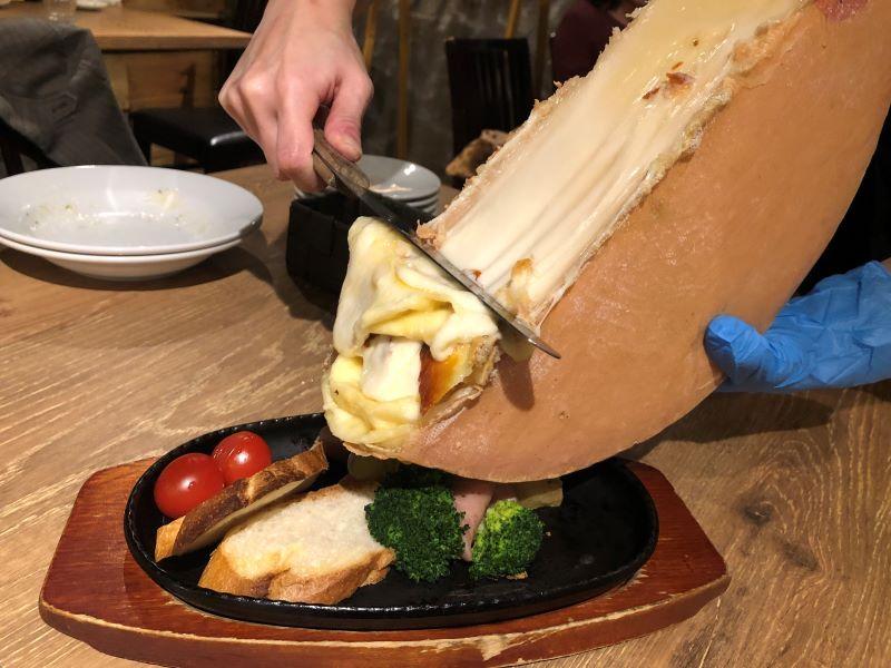 浦和ヴォランティのラクレットチーズ