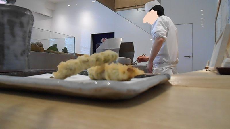 銀座天一柚子コースの天ぷら
