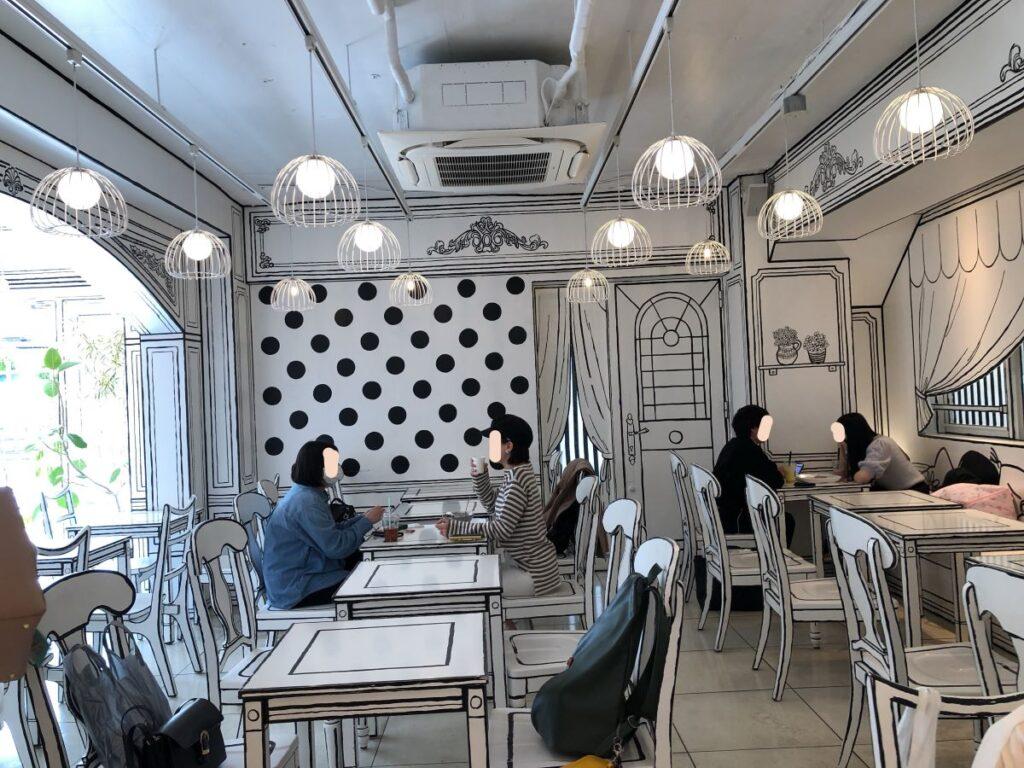 2Dカフェの店内