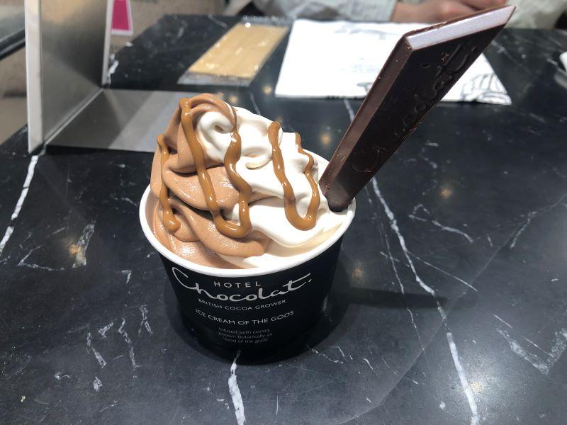 ホテルショコラのアイスクリーム「ヘーゼルナッツ」